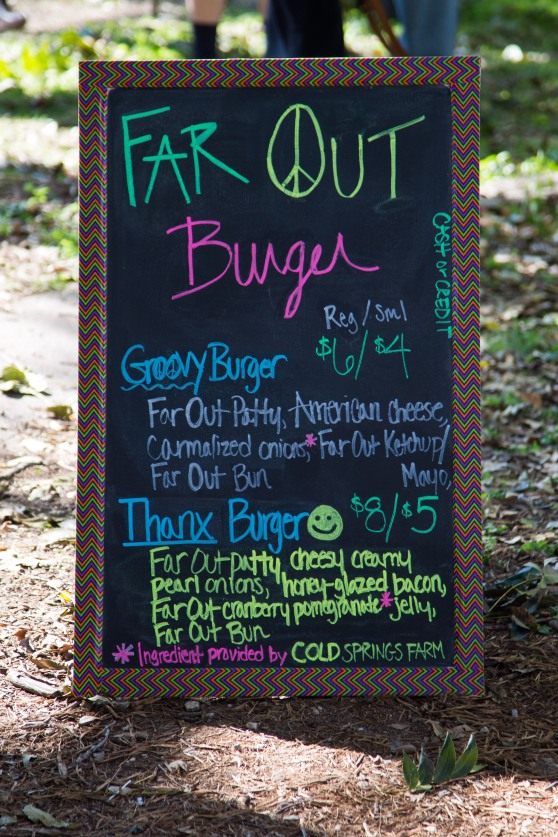 Far Out Burger Sign for November 16th