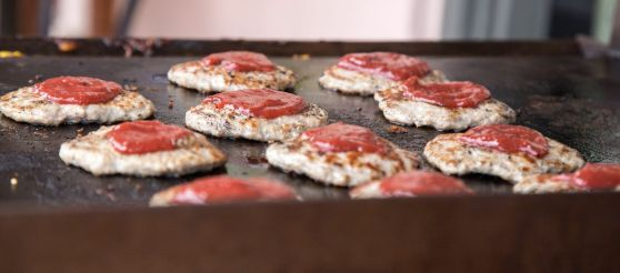 Japanese Burgers on the Griddle